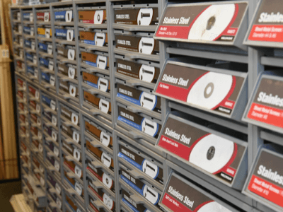 A large selection of fasteners, nuts and bolts